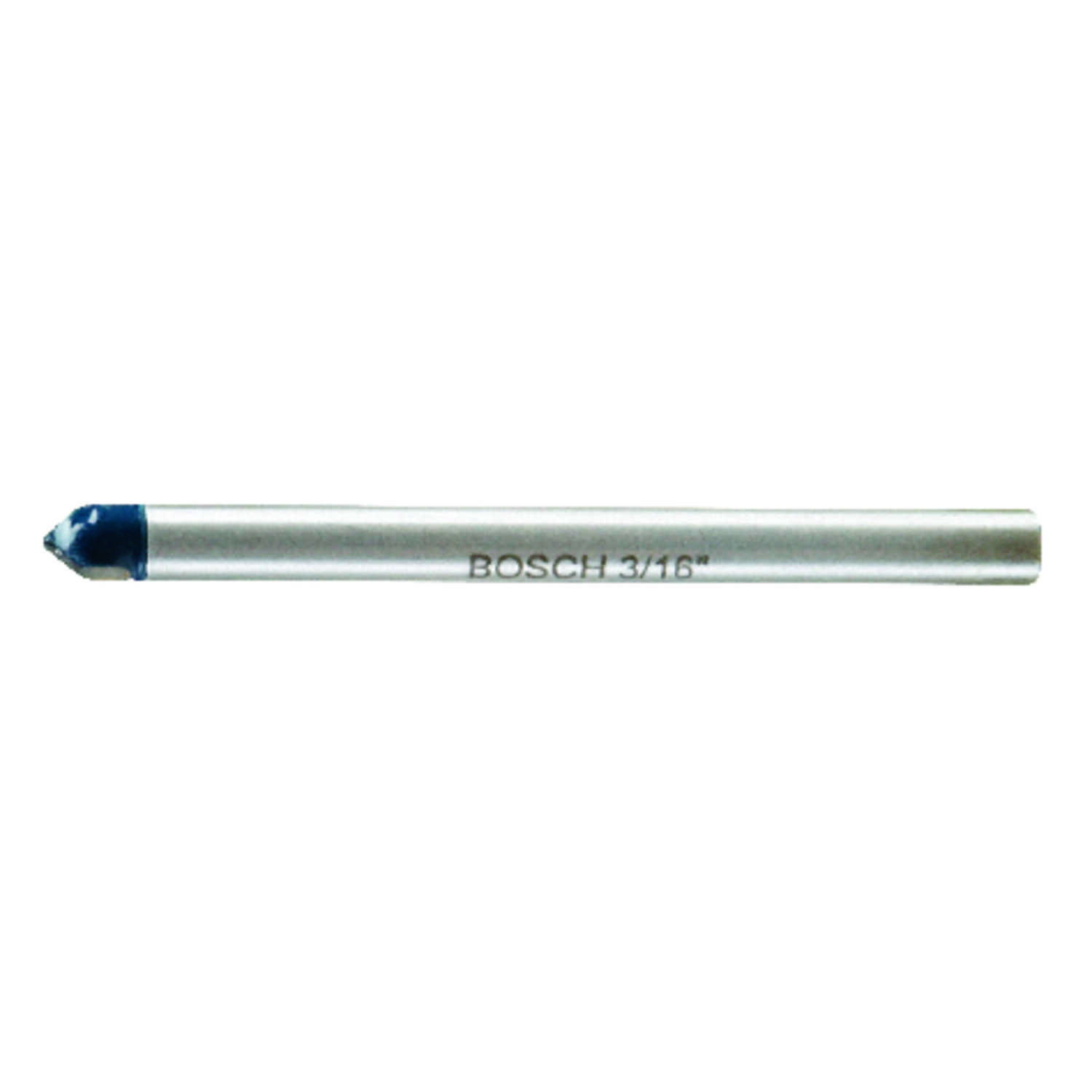 Bosch  3/16 in. Dia. x 4 in. L Carbide Tipped  Glass and Tile Bit  3-Flat Shank  1 pc.