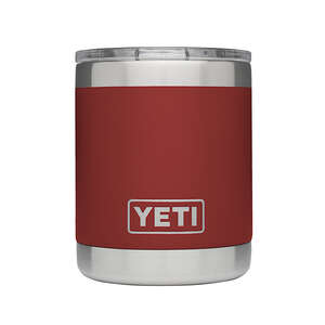 YETI  Rambler Lowball  Brick Red  Stainless Steel  BPA Free 10 oz. Insulated Cup