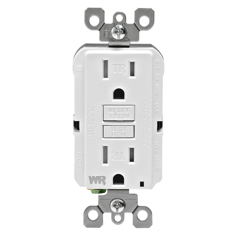 Leviton 15 amps 125 volt White GFCI Outlet 5-15R 1 pk - Ace Hardware