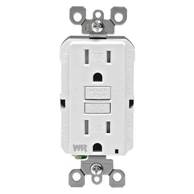 Leviton Smartlockpro 15 Amps 125 Volt Duplex White Gfci Outlet 5 15r 1 Pk Ace Hardware