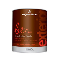 Benjamin Moore Ben Low Luster Tintable Base Base 1 Paint Exterior 1 qt.