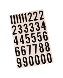 Hy-Ko 2 in. Reflective Black Vinyl Self-Adhesive Number Set 0-9 1 pc.