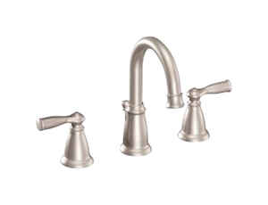 Moen  Banbury  Widespread  Lavatory Pop-Up Faucet  4  Brushed Nickel