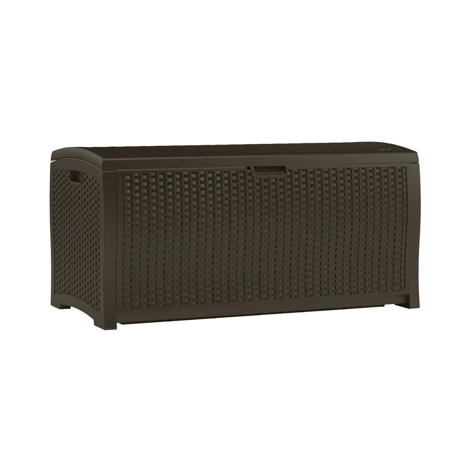 Suncast  Resin Wicker  25-1/2 in. H x 50 in. W x 25.5 in. D Brown  Deck Box