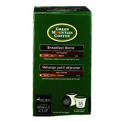 Keurig  Green Mountain Coffee  Breakfast Blend  Coffee K-Cups  18 pk