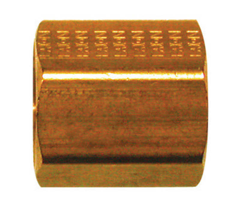 JMF  1/4 in. Dia. x 1/4 in. Dia. Flare To Flare To Flared  Yellow Brass  Inverted Union