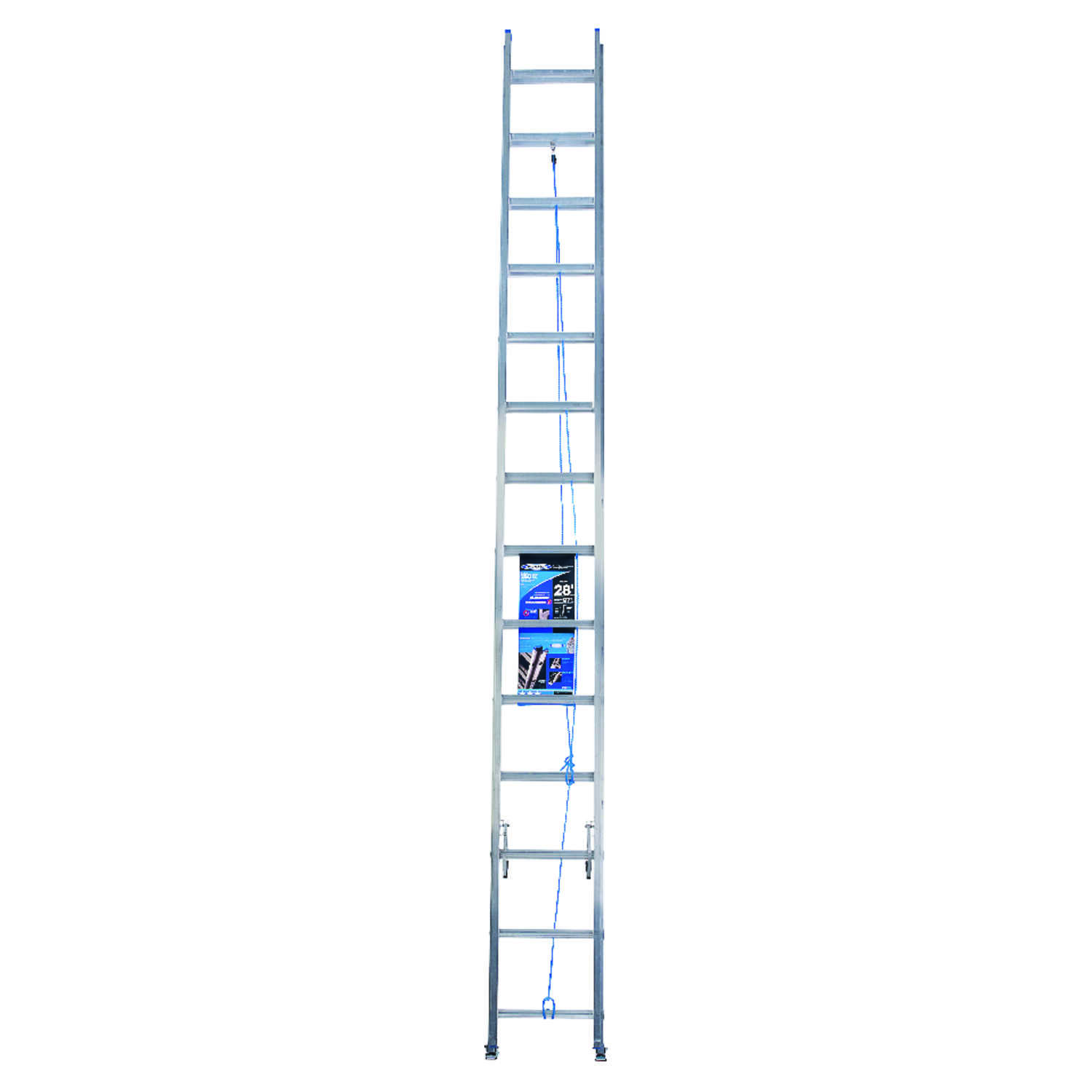 Werner  28 ft. H x 17.33 in. W Aluminum  Extension Ladder  Type 1  250 lb.