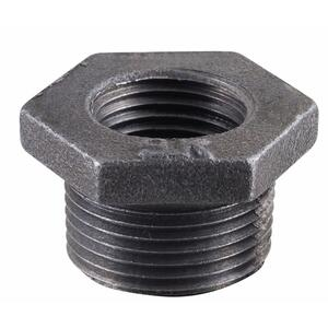 BK Products  2 in. MPT   x 1/2 in. Dia. FPT  Black  Malleable Iron  Hex Bushing