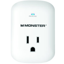 Monster Just Power It Up 1200 J 0 ft. L 1 outlets Surge Protector Wall Tap