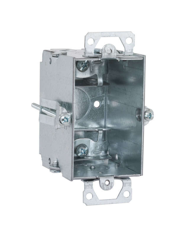 Raco 4.22 in. Rectangle Steel 1 gang Switch Box Gray - Ace HardwareAce Hardware