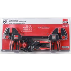 Bessey  Trigger and Spring  Combination Clamp Set  6 pc.