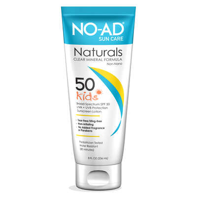 NO-AD  Broad Spectrum  Fragrance Free Scent Sunblock Lotion  8 Oz.  1 pk