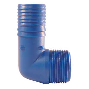 Blue Twisters  1 in. Insert   x 1 in. Dia. MPT  Polypropylene  Elbow