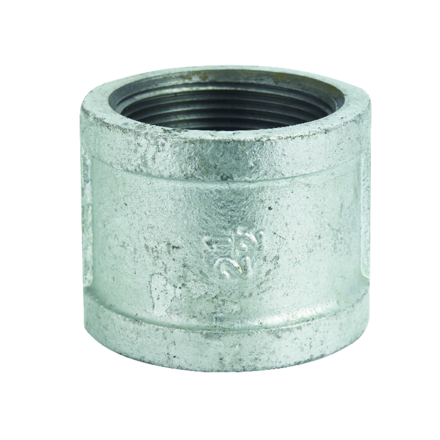 B & K  2-1/2 in. FPT   x 2-1/2 in. Dia. FPT  Galvanized  Malleable Iron  Coupling