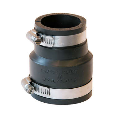 Fernco  Schedule 40  2 in. Hub   x 1-1/2 in. Dia. Hub  PVC  Flexible Coupling