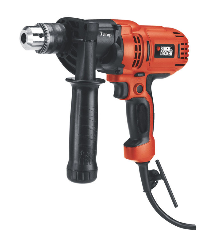 Black and Decker  1/2 in. Keyed  Corded Drill  7 amps 800 rpm