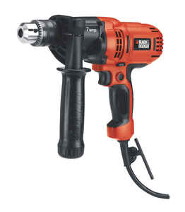 Black and Decker  1/2 in. Keyed  Corded Drill  Bare Tool  7 amps 800 rpm