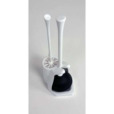 Casabella  Toilet Brush and Caddy  White