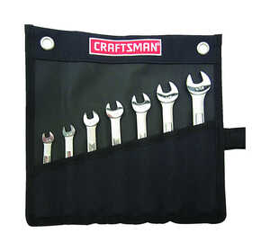 Craftsman  SAE  Wrench Set  Steel  7 pc.