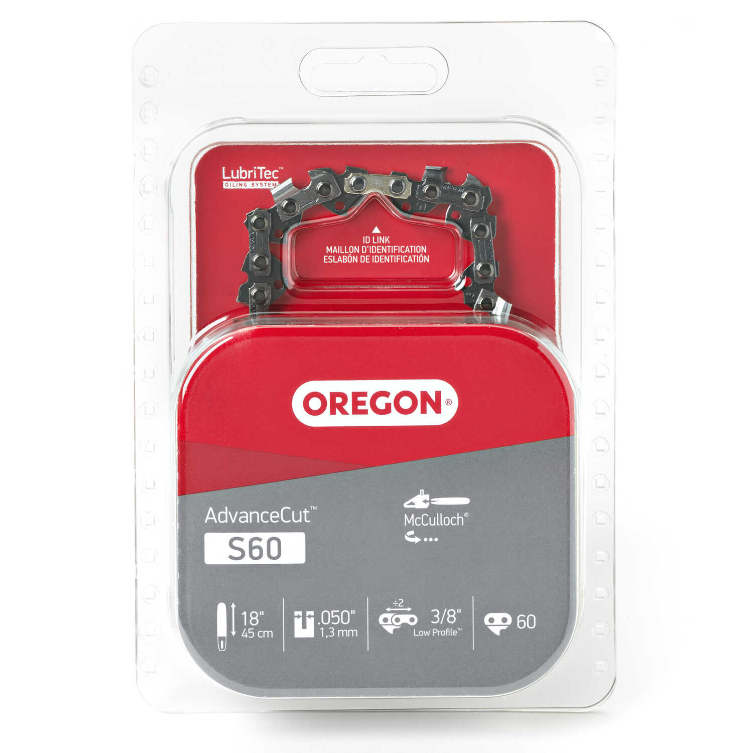 Oregon  Advance Cut  18 in. 60 links Chainsaw Chain