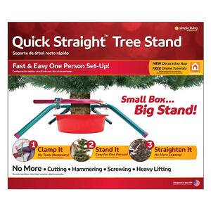 Simple Living  Quick Straight  Steel  Christmas Tree Stand  10 Maximum Tree Height