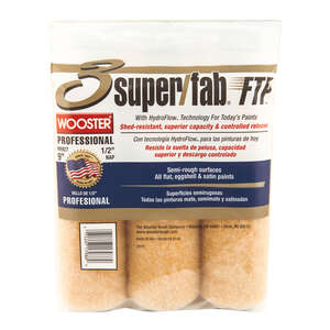 Wooster  Super/Fab FTP  Synthetic Blend  1/2 in.  x 9 in. W Paint Roller Cover  3 pk For Semi-Rough