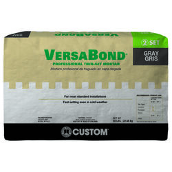 Custom Building Products  VersaBond  Gray  Thin-Set Mortar  50 lb.