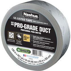 Nashua  1.89 in. W x 60.1 yd. L Silver  Duct Tape