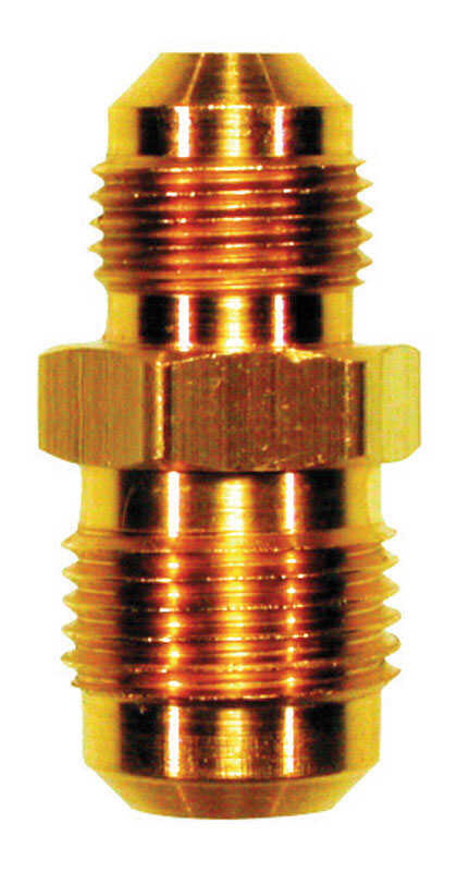 JMF  5/8 in. Dia. x 1/2 in. Dia. Flare To Flare To Flared  Yellow Brass  Reducing Union