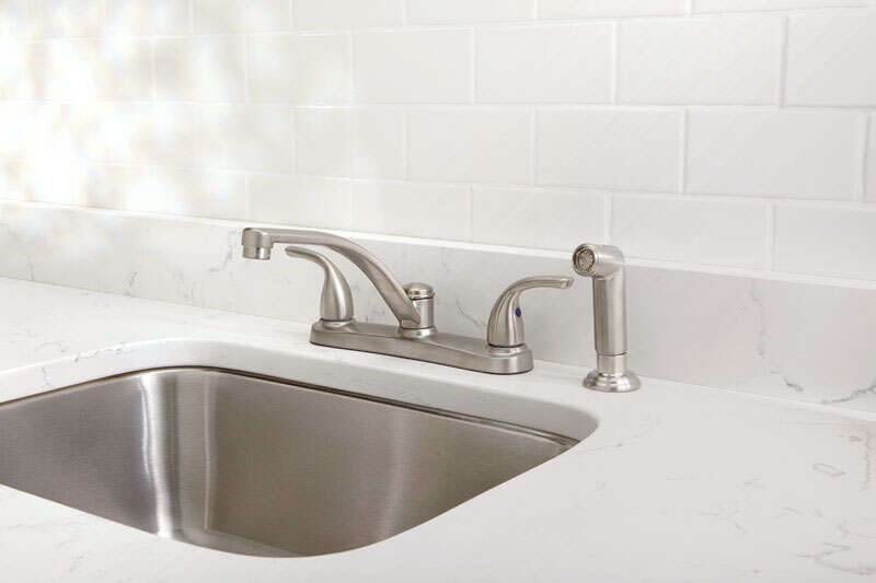 OakBrook  Coastal  2 Handle Kitchen w/Sprayer  Two Handle  Brushed Nickel  Kitchen Faucet  Side Spra
