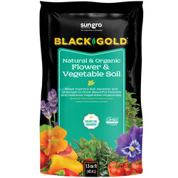 Black Gold Organic Flower and Vegetable Garden Soil 1.5 cu. ft.