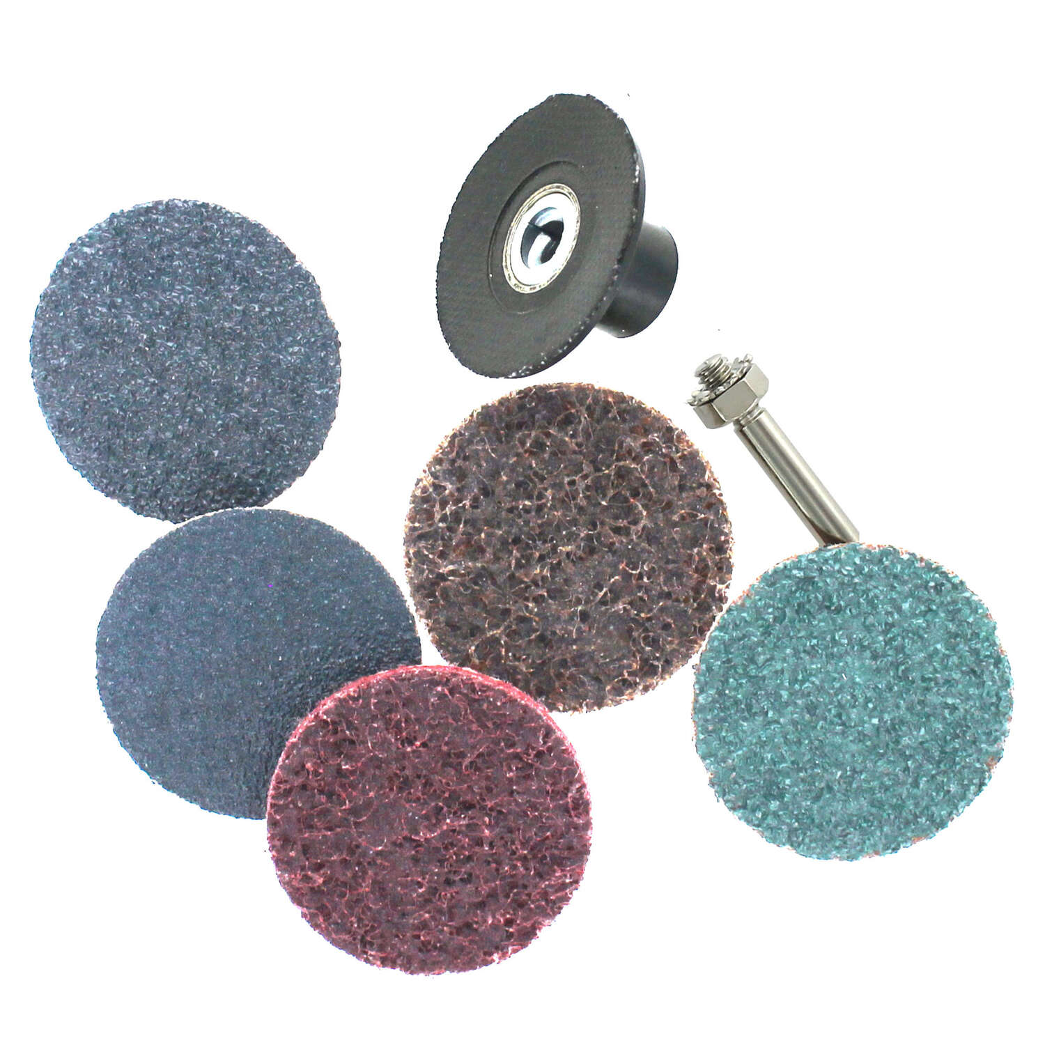 Ace  2 in. Twist and Lock  Surface Preparation Disc Kit  Assorted Grit Assorted  6 pc. Zirconium