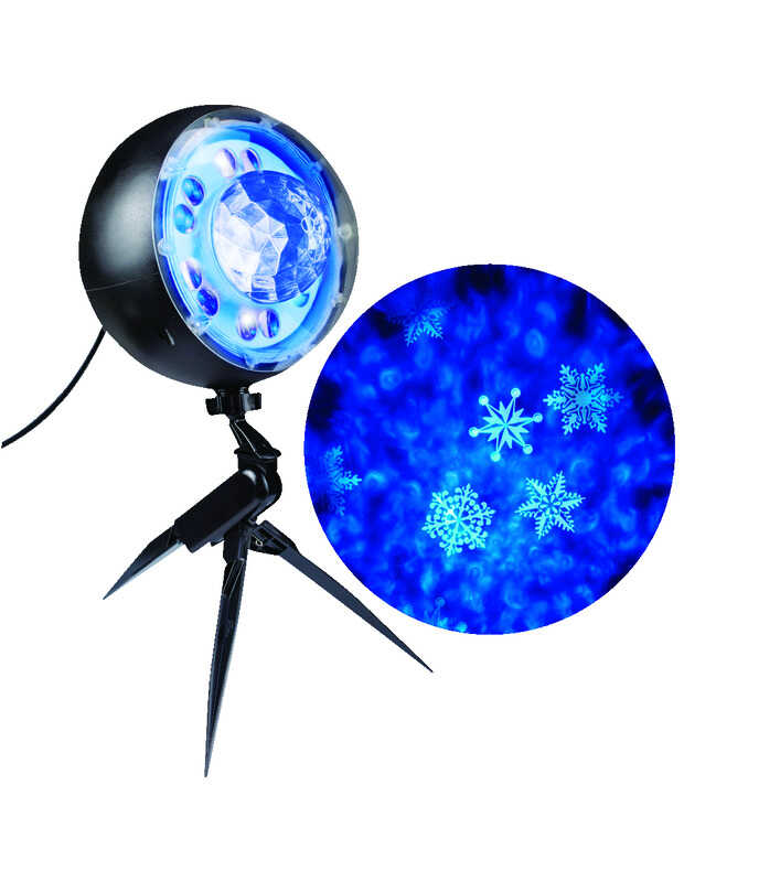 Gemmy  Whirl-A-Motion  LED  Light Show Snowflurry  Lights  Blue/White