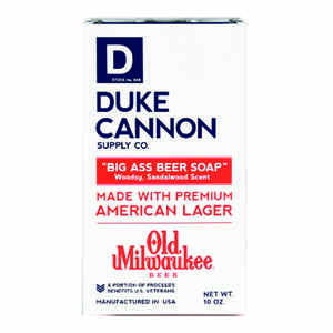 Duke Cannon  Old Milwaukee Beer  Beer Soap Scent Bar Soap  10