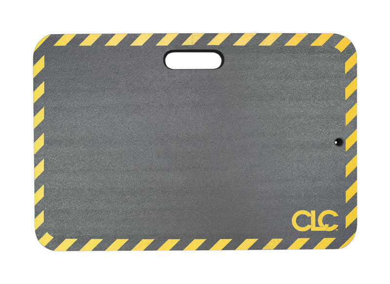 CLC Work Gear  14 in. L x 21 in. W Nitrile Butadiene Rubber  Medium  Kneeling Mat  Black  Non-Marrin