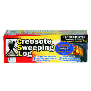 CSL  Creosote Sweeping Fire Log  1