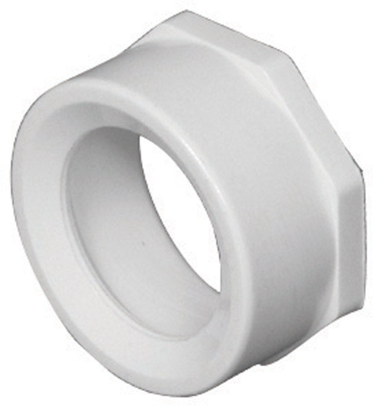 Charlotte Pipe  Schedule 40  3 in. Spigot   x 1-1/2 in. Dia. Hub  PVC  Flush Bushing