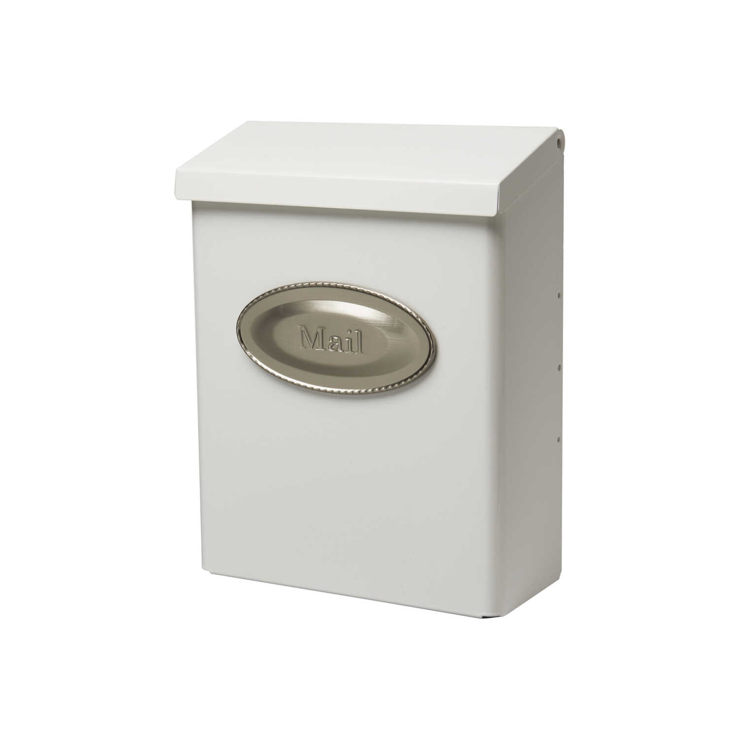 Gibraltar Mailboxes  Designer  Galvanized Steel  Wall-Mounted  White  Lockable Mailbox  12-1/2 in. H