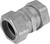 Sigma Electric  ProConnex  2 in. Dia. Zinc-Plated Steel  Rain-Tight Compression Coupling  For EMT 1