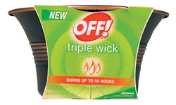 OFF! Citronella Candle Solid For Flying Insects 23 oz.