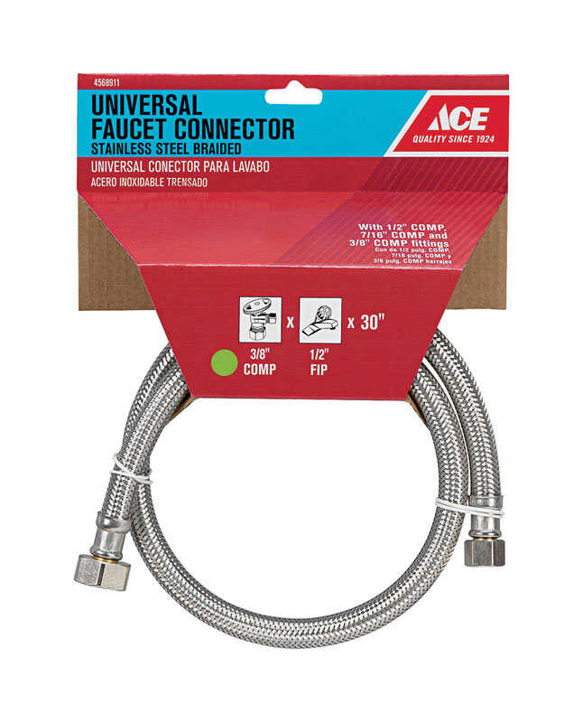 Ace  30 in. Braided Stainless Steel  Faucet Supply Line