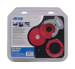 Kreg  11-3/4 in. L x 9-1/4 in. W Precision  Insert Plate Kit  4 pc.