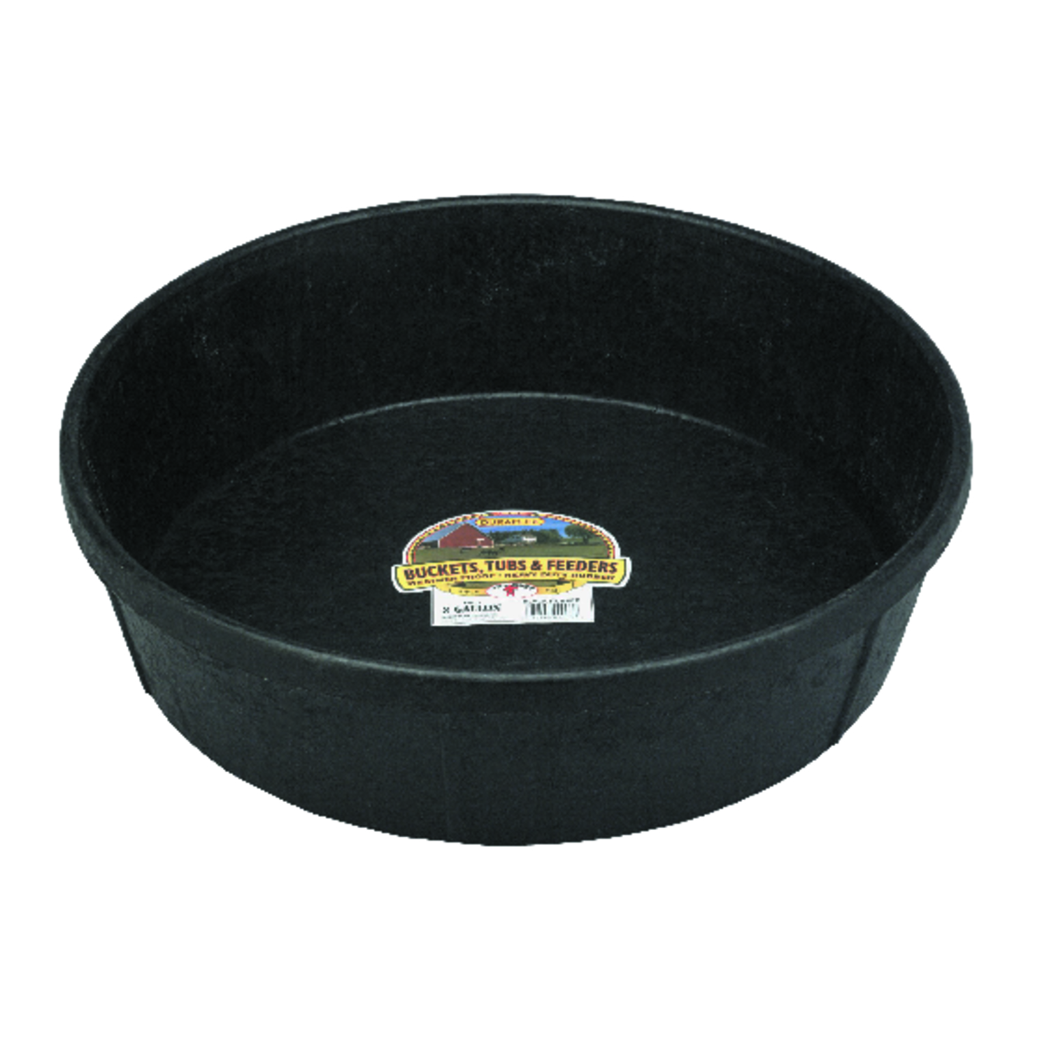 Miller  Little Giant  384 oz. Feeder Pan  For Livestock 8-1/2 in. D x 4-1/2 in. H