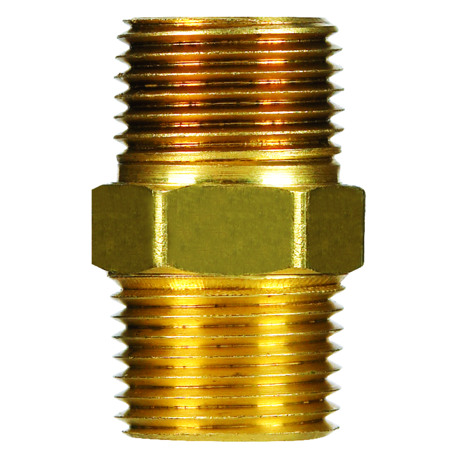 Ace  3/8 in. Dia. x 3/8 in. Dia. MPT To MPT  Red Brass  Hex Pipe Nipple