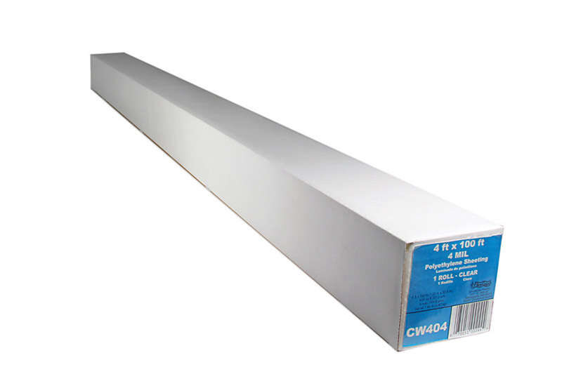 Berry Plastics  Film-Gard  Plastic Sheeting  4 mil  x 4 ft. W x 100 ft. L Polyethylene  Clear
