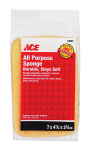 Ace  Medium Duty  Sponge  For All Purpose 7 in. L 1 pc.