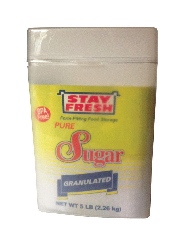 Stay Fresh  5 lb. 1 pk Sugar Container