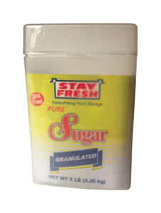 Stay Fresh  5 lb. Sugar Container  1 pk