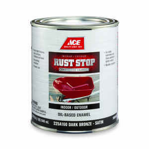 Ace  Rust Stop  Interior/Exterior  Indoor and Outdoor  Dark Bronze  Rust Prevention Paint  Satin  1