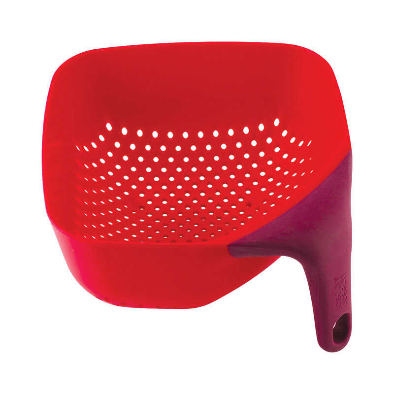 Joseph Joseph  8-1/2 in. W x 8-1/2 in. L Red  Colander with Side Handle